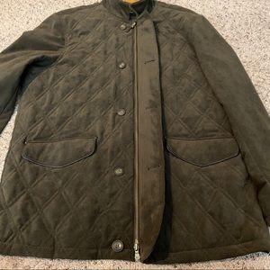 Allen Edmonds Dark Brown XL Quilted Coat